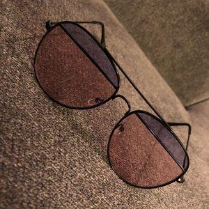 Split Lens Aviator Fashion Sunglasses